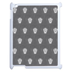 Skull Pattern Silver Apple Ipad 2 Case (white) by MoreColorsinLife