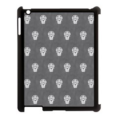Skull Pattern Silver Apple Ipad 3/4 Case (black) by MoreColorsinLife