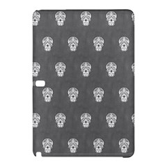 Skull Pattern Silver Samsung Galaxy Tab Pro 12.2 Hardshell Case by MoreColorsinLife