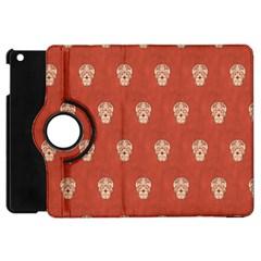 Skull Pattern Terra Apple Ipad Mini Flip 360 Case by MoreColorsinLife