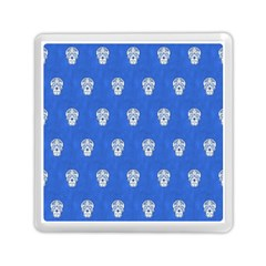 Skull Pattern Inky Blue Memory Card Reader (square)  by MoreColorsinLife