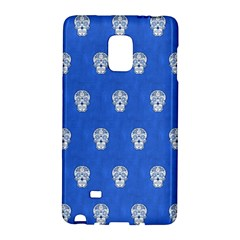 Skull Pattern Inky Blue Galaxy Note Edge by MoreColorsinLife
