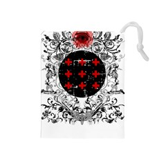 Occult Theme Drawstring Pouches (medium)  by Lab80