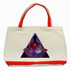 Deep Meditation Classic Tote Bag (red)  by Lab80