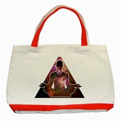 Deep Meditation #2 Classic Tote Bag (red)  by Lab80