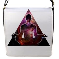 Deep Meditation #2 Flap Messenger Bag (s) by Lab80