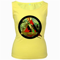Somewhere Not Here Women s Yellow Tank Tops by Lab80