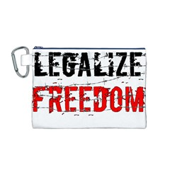 Legalize Freedom Canvas Cosmetic Bag (m) by Lab80