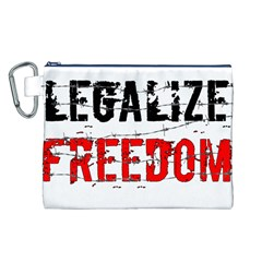 Legalize Freedom Canvas Cosmetic Bag (l) by Lab80