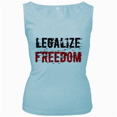 Legalize Freedom Women s Baby Blue Tank Tops by Lab80