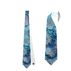 Marbled Lava Blue Neckties (one Side)  by MoreColorsinLife