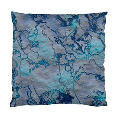 Marbled Lava Blue Standard Cushion Case (one Side)  by MoreColorsinLife