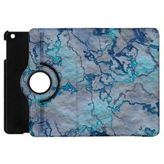 Marbled Lava Blue Apple Ipad Mini Flip 360 Case by MoreColorsinLife