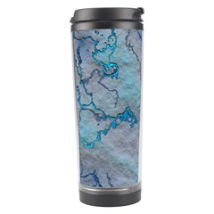 Marbled Lava Blue Travel Tumblers by MoreColorsinLife