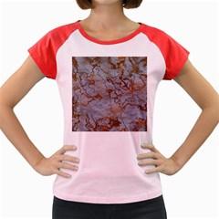 Marbled Lava Orange Women s Cap Sleeve T Shirt