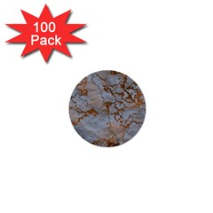 Marbled Lava Orange 1  Mini Buttons (100 Pack)  by MoreColorsinLife