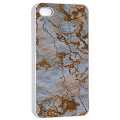 Marbled Lava Orange Apple Iphone 4/4s Seamless Case (white) by MoreColorsinLife