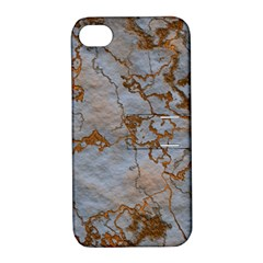 Marbled Lava Orange Apple Iphone 4/4s Hardshell Case With Stand by MoreColorsinLife