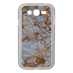 Marbled Lava Orange Samsung Galaxy Grand DUOS I9082 Case (White) by MoreColorsinLife