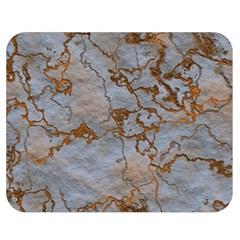 Marbled Lava Orange Double Sided Flano Blanket (Medium)  by MoreColorsinLife