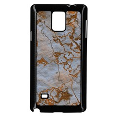 Marbled Lava Orange Samsung Galaxy Note 4 Case (Black) by MoreColorsinLife