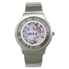 Marbled Lava Red Stainless Steel Watches by MoreColorsinLife