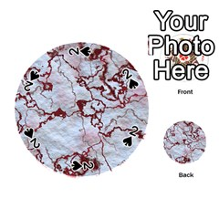 Marbled Lava Red Playing Cards 54 (round)