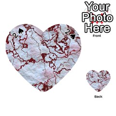 Marbled Lava Red Playing Cards 54 (heart)
