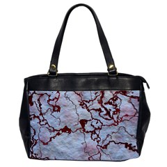 Marbled Lava Red Office Handbags by MoreColorsinLife