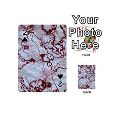 Marbled Lava Red Playing Cards 54 (mini)  by MoreColorsinLife
