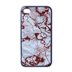 Marbled Lava Red Apple Iphone 4 Case (black) by MoreColorsinLife