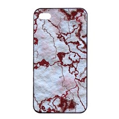 Marbled Lava Red Apple Iphone 4/4s Seamless Case (black) by MoreColorsinLife