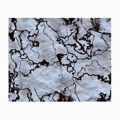 Marbled Lava White Black Small Glasses Cloth by MoreColorsinLife