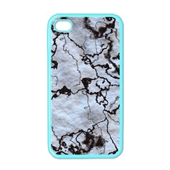 Marbled Lava White Black Apple Iphone 4 Case (color) by MoreColorsinLife