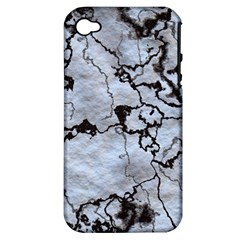 Marbled Lava White Black Apple Iphone 4/4s Hardshell Case (pc+silicone) by MoreColorsinLife