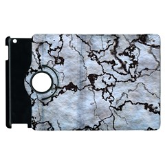 Marbled Lava White Black Apple Ipad 3/4 Flip 360 Case by MoreColorsinLife