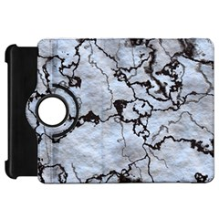 Marbled Lava White Black Kindle Fire Hd Flip 360 Case by MoreColorsinLife