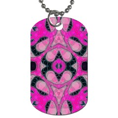 Pink Black Abstract  Dog Tag (two Sides) by OCDesignss
