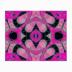 Pink Black Abstract  Small Glasses Cloth (2-Side) by OCDesignss