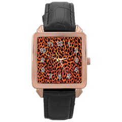Red And Black Abstract  Rose Gold Watches by OCDesignss
