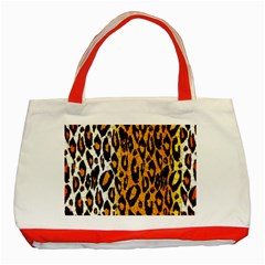 Cheetah Abstract Pattern  Classic Tote Bag (red)  by OCDesignss