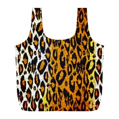 Cheetah Abstract Pattern  Full Print Recycle Bags (l)