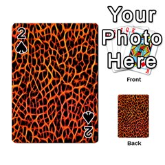 Lava Abstract Pattern  Playing Cards 54 Designs