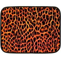 Lava Abstract Pattern  Fleece Blanket (mini) by OCDesignss
