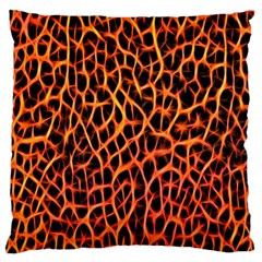 Lava Abstract Pattern  Large Cushion Cases (one Side)  by OCDesignss