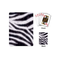 Black&white Zebra Abstract Pattern  Playing Cards (mini)  by OCDesignss