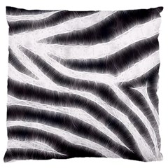 Black&White Zebra Abstract Pattern  Large Cushion Cases (One Side)  by OCDesignss