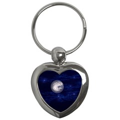 Moon And Stars Key Chains (heart)  by theunrulyartist