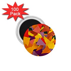 Geo Fun 8 Colorful 1 75  Magnets (100 Pack)  by MoreColorsinLife