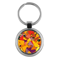 Geo Fun 8 Colorful Key Chains (round)  by MoreColorsinLife